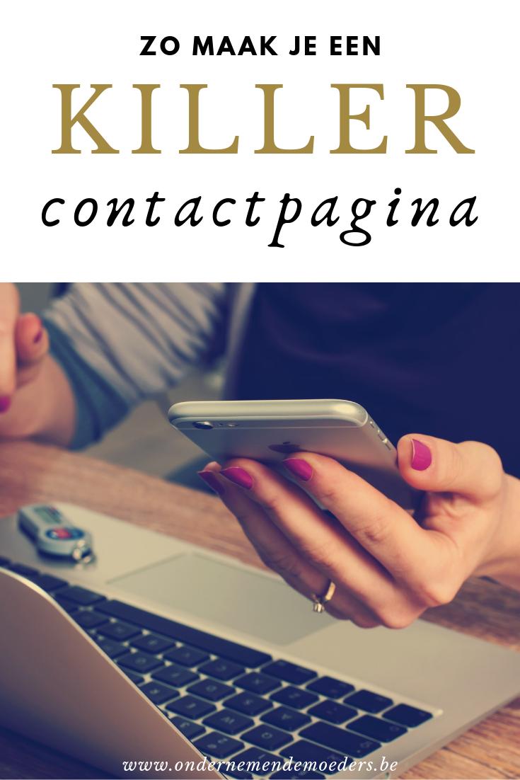 Zo maak je een contactpagina - contactformulier op website - ondernemende moeders