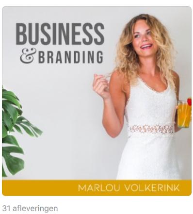 Podcast voor vrouwelijke ondernemers -  Flow met Marlou op Apple