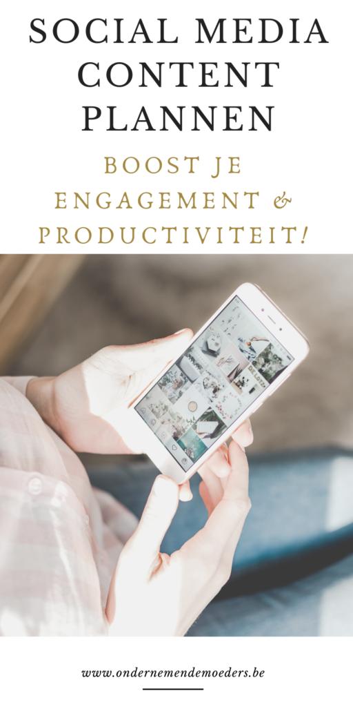 Social media content kalender plan - Contentplanner - meer engagement - plannen