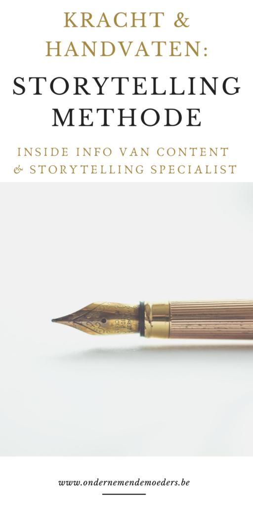 Handvaten en kracht van storytelling methode voor bedrijf - content expert specialist