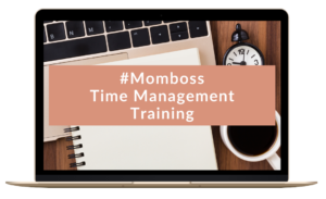 #Momboss Time Management Training mockup achtergrond